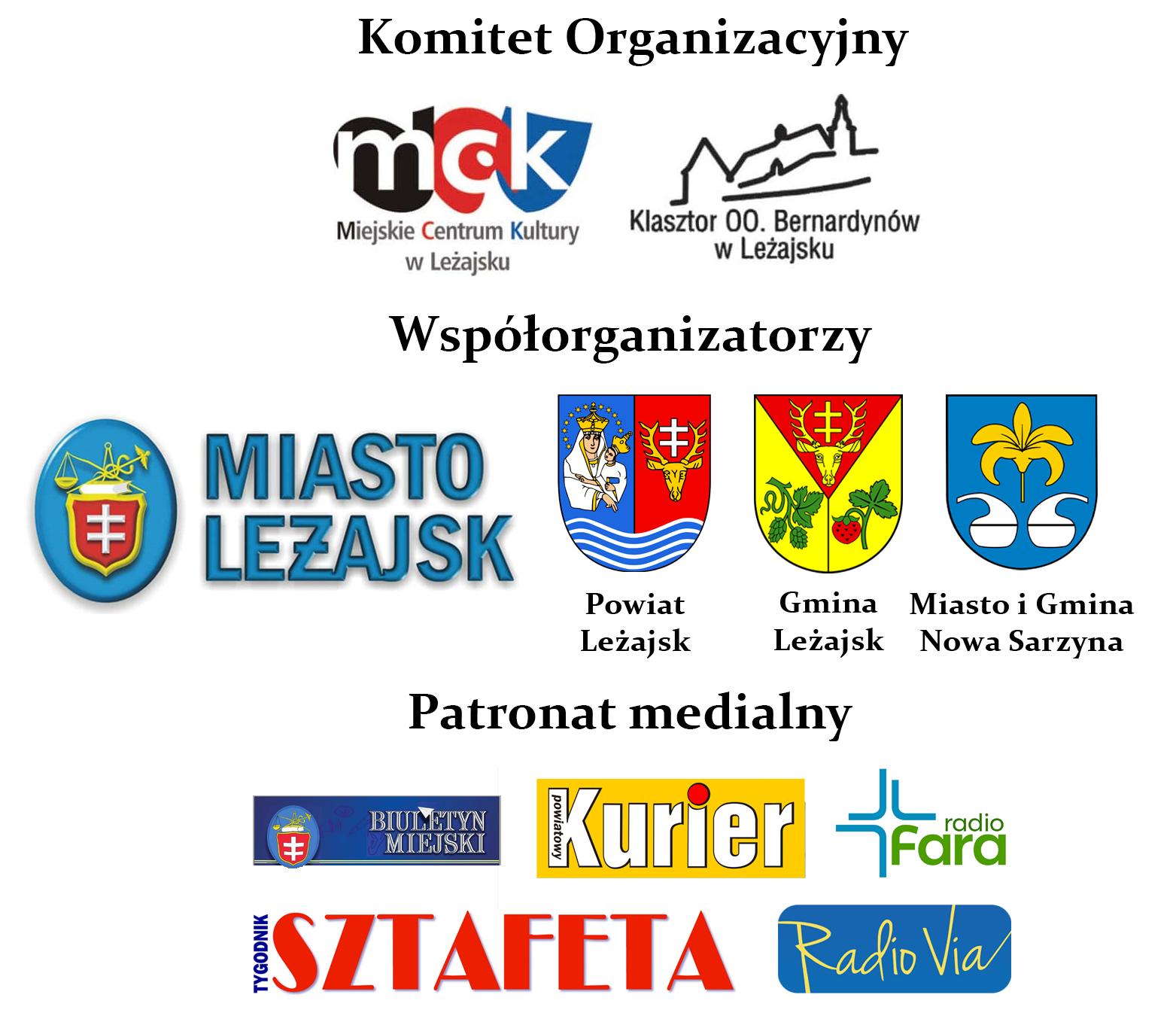 Sponsorzy - Międzynarodowy Festiwal Muzyki Organowej i Kameralnej